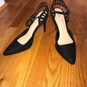 JustFab Sling Back Faux Suede Heels Size 11
